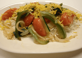 Grilled Vegetables with Rice